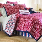 PCT Home Collection Red/White/Blue Nautical Print 8-pc Comforter Set Red King by Amrapur Overseas