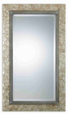 Pearl Shell Wall Mirror with Mother of Pearl And Rope Details Brand Uttermost