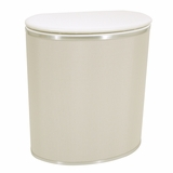 Pearl White Bowed Front Hamper in Pearl White by Redmon