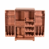 Pefectly Styled Aged Copper Clad Wine Cabinet by Yosemite Home Decor