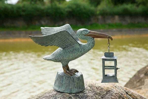 Pelican Lantern Decorative Light With Beach Life Attraction Brand SPI-HOME