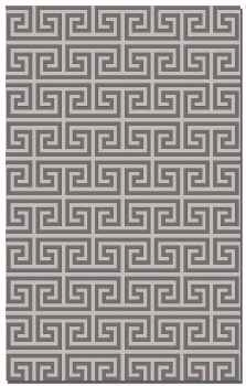 Pembroke Charcoal 5' Woven Wool Rug in Charcoal and Grey Brand Uttermost