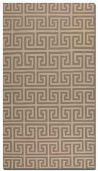 Pembroke Grey 5' Woven Wool Rug in Natural Brand Uttermost