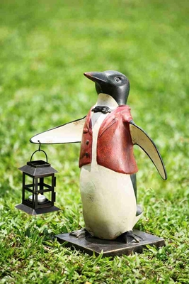 Penguin Waiter Lantern Decorative Light With Sea Shore Attraction Brand SPI-HOME
