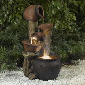 Pentole Pot Outdoor/Indoor Fountain with Trickling Sound Brand Zest