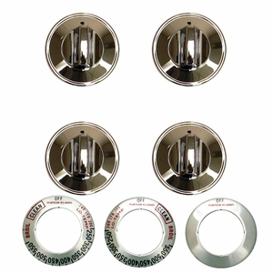 Perfect and Lovely Knob Gas Chrome 4 Pk by Range Kleen