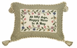 Perfect At My Age Petit-Point Pillow by 123 Creations