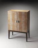 Perfect Ballard Leather Storage Cabinet by Butler Specialty