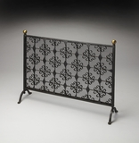 Perfect Delmas Iron Fireplace Screen by Butler Specialty