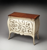 Perfect Eden Carved Wood Bombe Chest by Butler Specialty