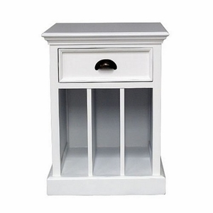 Perfect Halifax White Mahogany Nightstand or Sidetable by Infinita