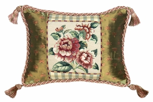 Perfect Sleep With Rose Petit Point Pillow by 123 Creations