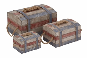Perfect Storage Attractive Wood Rope Box by Woodland Import