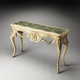 Perfect Verbena Fossil Stone Console Table by Butler Specialty