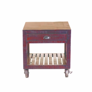 Perfectly Designed Solid MangoWood End Table by Yosemite Home Decor