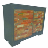 Perfectly Styled Metal and MangoWood Storage Cabinet by Yosemite Home Decor
