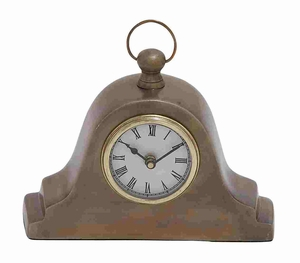 Tambour Style Table Clock In Traditional - 27479 by Benzara
