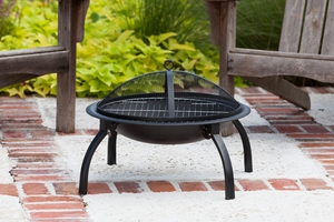 Pesaro Folding Fire Pit, Compact And Decorative Heating Entity by Well Travel Living
