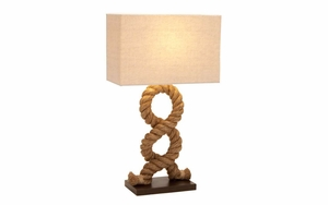 Pier Inspired Table Lamp - Unique and Modern Table Lamp With Rope Brand Woodland