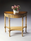 "Pine N' Cream Demilune Console Table 30""W by Butler Specialty"