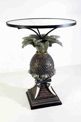 Pineapple Table Sculptured Over A Beautiful Carved Pot Brand SPI-HOME
