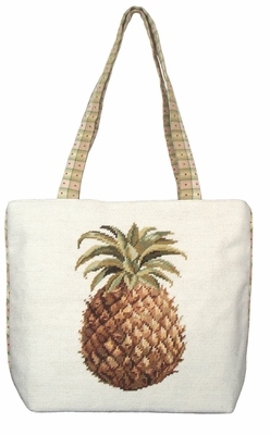 Pineapple Tote Bag Needlepoint by 123 Creations