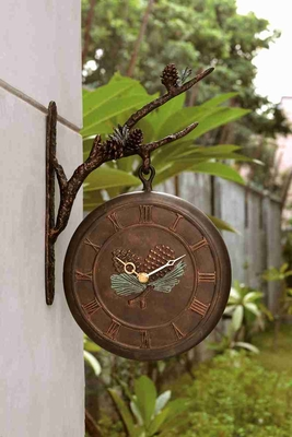 Pinecone Clock & Thermometer A Dual Utility Decor Brand SPI-HOME