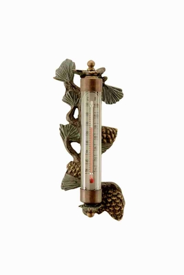 Pinecone Wall Mounted Thermometer With Beach Decor Flavor Brand SPI-HOME