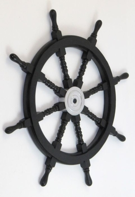 Pirate Helm - Wooden Ship Wheel Helm Decor With Alloy Center Brand IOTC