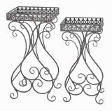Plant Stand with Curvy Design and Space Efficient (Set of 2) Brand Woodland