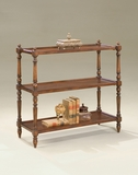 "Plantation Cherry 3-Tier Console Table 38""W by Butler Specialty"