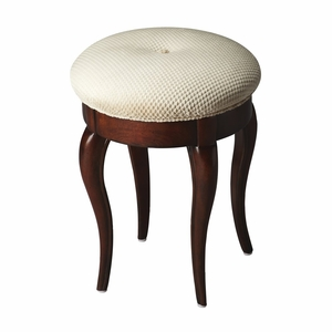 "Plantation Cherry Vanity Stool 14""Diam. by Butler Specialty"