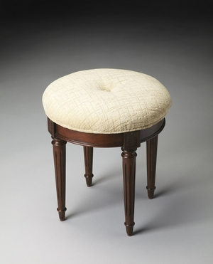 "Plantation Cherry Vanity Stool 18""W by Butler Specialty"