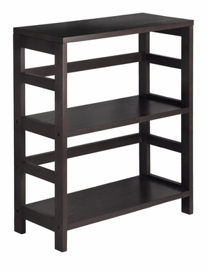 Pleasant Leo Shelf / Storage, Book, 2-Tier Wide by Winsome Woods