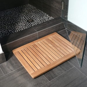 Pleasant Teak Shower & Floor Mat by Infinita