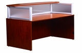 Plexiglass Reception Desk, Cherry by Boss Chair