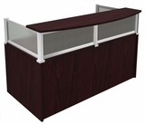 Plexiglass Reception Desk, Mahogany by Boss Chair