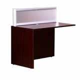Plexiglass Reception Return, Mahogany 24X48X425 by Boss Chair