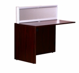 Plexiglass Reception Return, Mahogany by Boss Chair