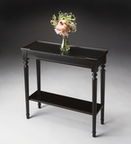 "Plum Black Console Table 29""W by Butler Specialty"