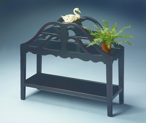 "Plum Black Plant Stand 34""W by Butler Specialty"