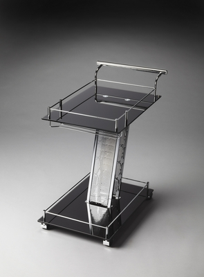 Polished Aston Modern Serving Cart by Butler Specialty