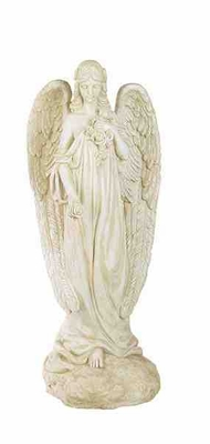 """Poly 31"""" Resin Angel Designed with Intricate Detailings Brand Woodland"""