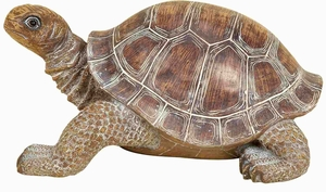"Poly Resin 15"" Turtle Statue Crafted with Artistic Design Brand Woodland"