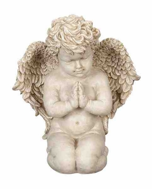Poly Resin Angel with Intricate Detailing in Polished Finish Brand Woodland