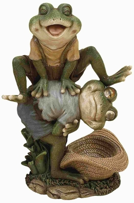 Poly Resin Leap Frog Crafted with Finely Detailed Design Brand Woodland