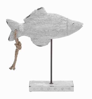 Poly Stone Fish Decoration with Simple Styling and Slight Curves Brand Woodland