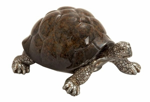 Poly Stone Small Walking Turtle Garden Decor Statue Sculpture Brand Woodland