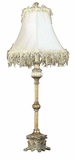 Polyresin Metal Buffet Lamp with Fine Detailing in Golden Finish Brand Woodland