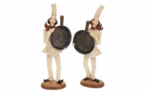 Polystone Blackboard Decor Set - French Chef Figure - Set of 2 Brand Woodland